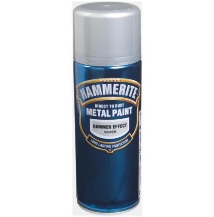 Hammarlack 400ml Silver Spray Hammerite