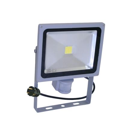 Ledstrålkastare 30W med sensor