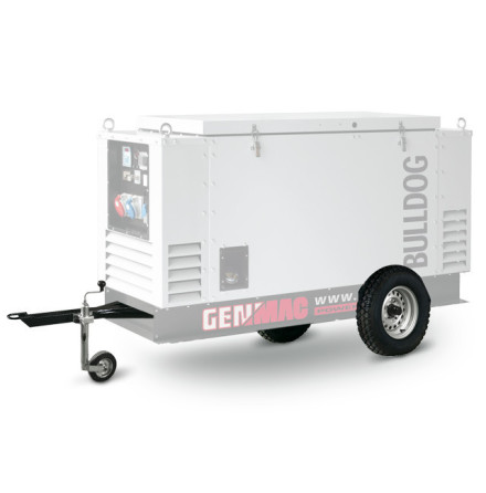Slow Speed trailer till Genmac elverk