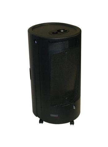 Gasolkamin svart blue belle oval 4,2kW med termostat