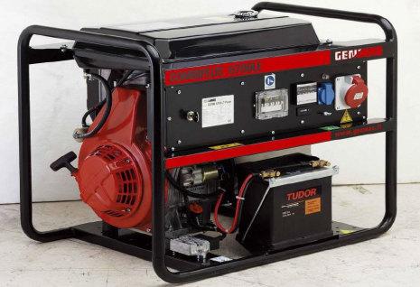 Dieselelverk Genmac Combiplus  G6700KEO Special 10 kVA + glödstift