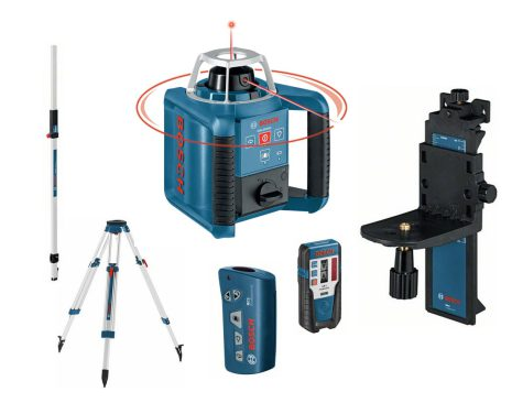 Kampanjset: Rotationslaser GRL 300 HV + extra stativ och mätstock